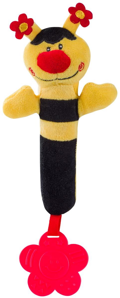 BabyOno Игрушка-пищалка Пчелка цвет желтый черный