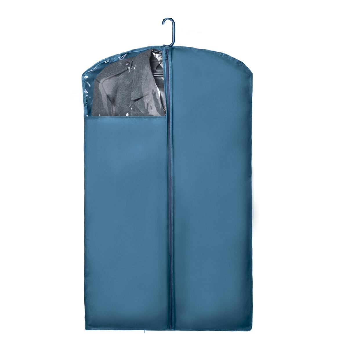 Чехол для верхней одежды Miolla, с окошком, цвет: голубой, 100 х 60 см25051 7_желтыйЧехол для верхней одежды Miolla на застежке-молнии выполнен из высококачественного нетканого материала. Прозрачное полиэтиленовое окошко позволяет видеть содержимое чехла. Подходит для длительного хранения вещей.Чехол обеспечивает вашей одежде надежную защиту от влажности, повреждений и грязи при транспортировке, от запыления при хранении и проникновения моли. Чехол обладает водоотталкивающими свойствами, а также позволяет воздуху свободно поступать внутрь вещей, обеспечивая их кондиционирование. Это особенно важно при хранении кожаных и меховых изделий.Размер чехла: 100 х 60 см.