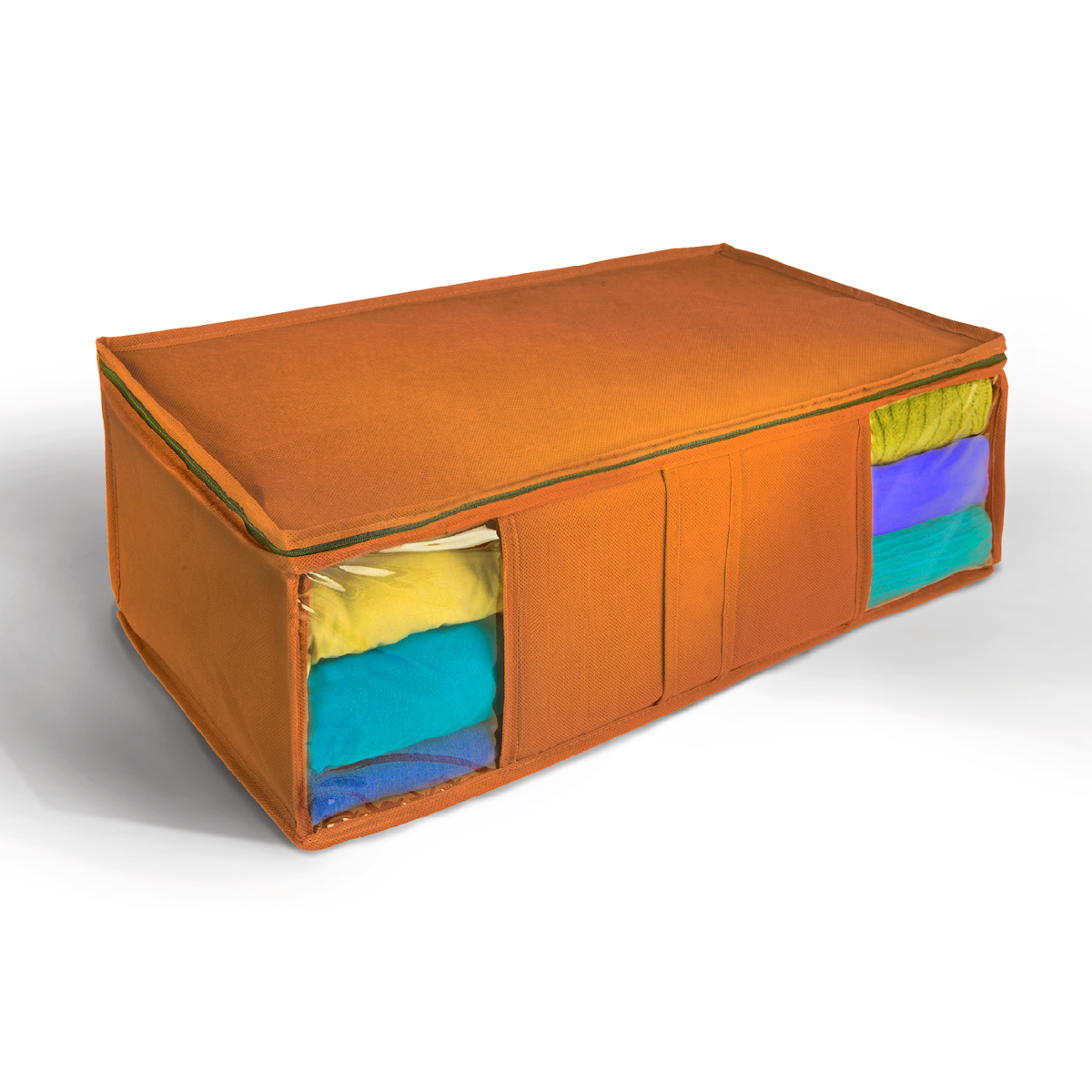 Кофр для хранения Miolla, складной, цвет: оранжевый, 60 х 30 х 20 смCHL-10-5Компактный складной кофр Miolla изготовлен из высококачественногонетканого материала, которыйобеспечивает естественную вентиляцию, позволяя воздуху проникать внутрь,но не пропускает пыль. Изделие закрывается на молнию. Размер кофра (в собранном виде): 60 x 30 x 20 см.