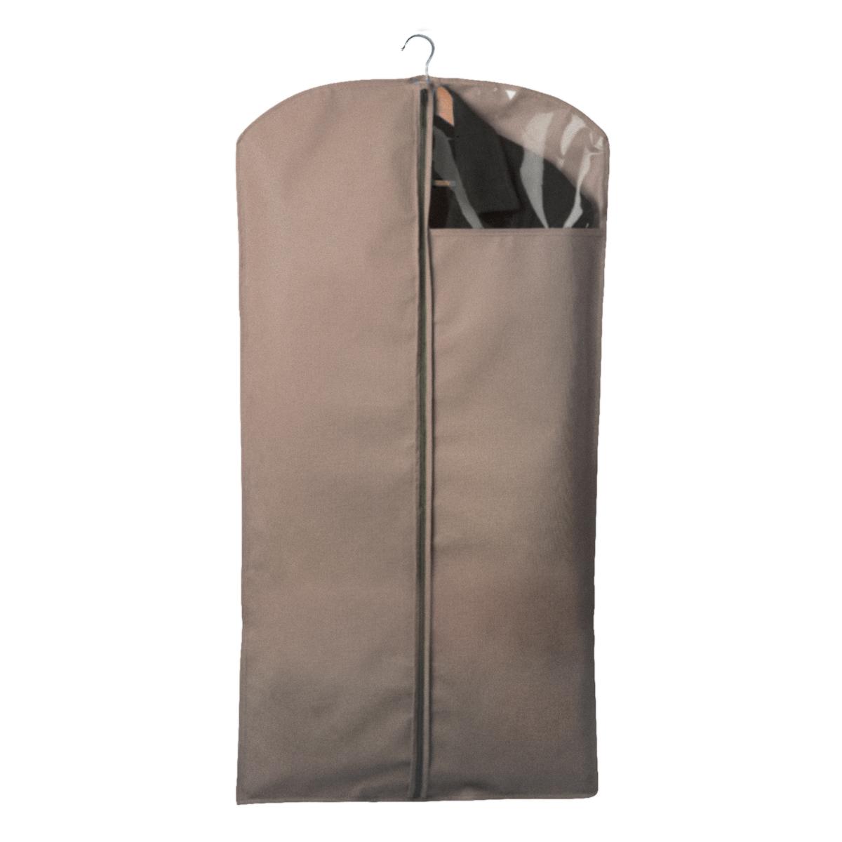 Чехол для одежды Miolla, с окошком, цвет: бежевый, 120 х 60 см6221CЧехол для костюмов и платьев Miolla на застежке-молнии выполнен из высококачественного нетканого материала. Прозрачное полиэтиленовое окошко позволяет видеть содержимое чехла. Подходит для длительного хранения вещей.Чехол обеспечивает вашей одежде надежную защиту от влажности, повреждений и грязи при транспортировке, от запыления при хранении и проникновения моли. Чехол обладает водоотталкивающими свойствами, а также позволяет воздуху свободно поступать внутрь вещей, обеспечивая их кондиционирование. Размер чехла: 120 х 60 см.