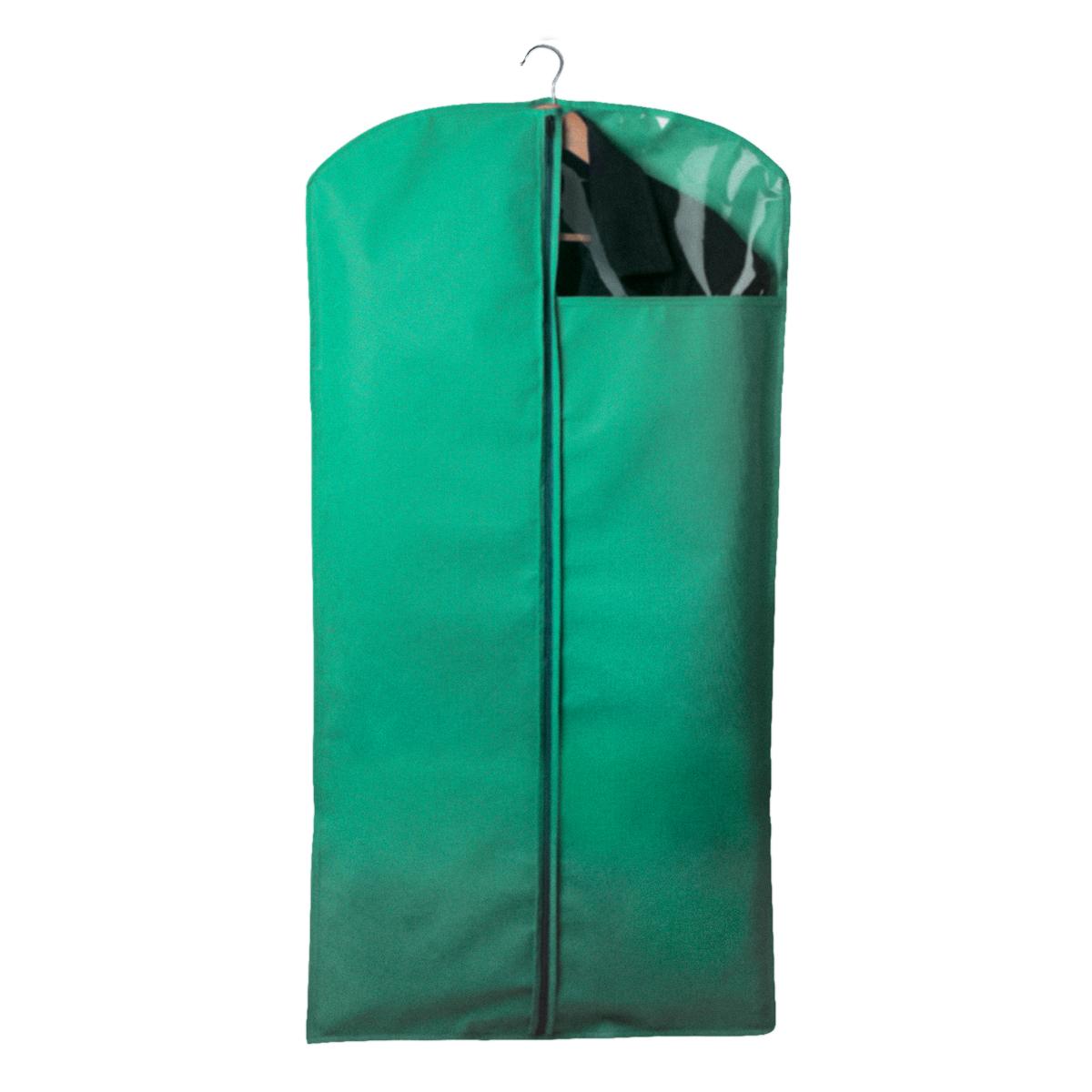 Чехол для одежды Miolla, с окошком, цвет: зеленый, 120 х 60 см74-0120Чехол для костюмов и платьев Miolla на застежке-молнии выполнен из высококачественного нетканого материала. Прозрачное полиэтиленовое окошко позволяет видеть содержимое чехла. Подходит для длительного хранения вещей.Чехол обеспечивает вашей одежде надежную защиту от влажности, повреждений и грязи при транспортировке, от запыления при хранении и проникновения моли. Чехол обладает водоотталкивающими свойствами, а также позволяет воздуху свободно поступать внутрь вещей, обеспечивая их кондиционирование. Размер чехла: 120 х 60 см.