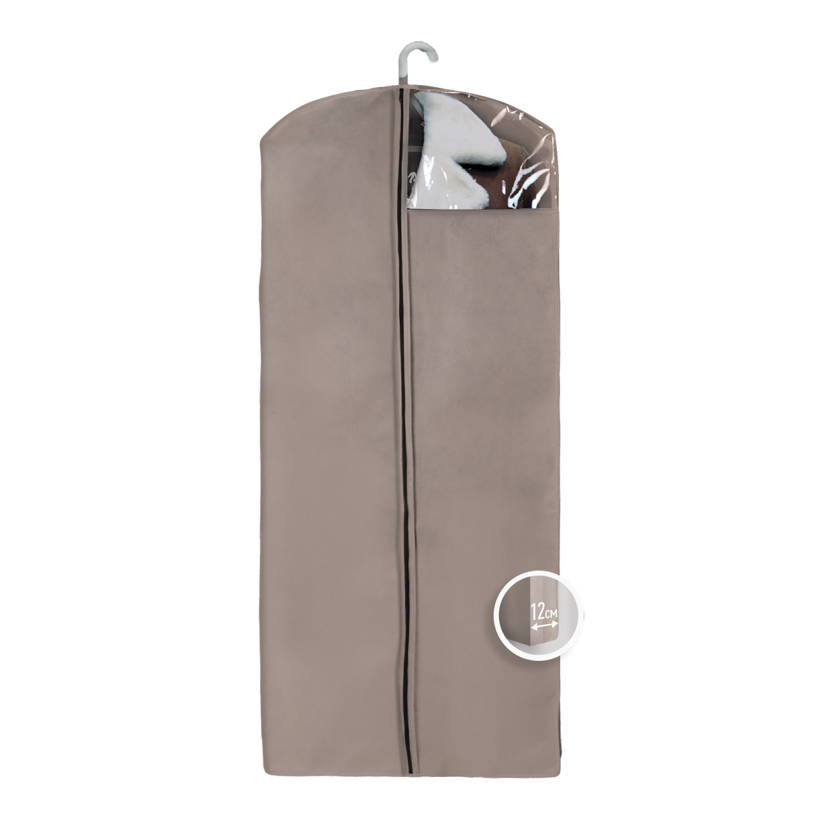 Чехол для верхней одежды Miolla, с окошком, цвет: бежевый, 140 х 60 х 12 см12723Чехол для верхней одежды Miolla на застежке-молнии выполнен из высококачественного нетканого материала. Прозрачное полиэтиленовое окошко позволяет видеть содержимое чехла. Подходит для длительного хранения вещей.Чехол обеспечивает вашей одежде надежную защиту от влажности, повреждений и грязи при транспортировке, от запыления при хранении и проникновения моли. Чехол обладает водоотталкивающими свойствами, а также позволяет воздуху свободно поступать внутрь вещей, обеспечивая их кондиционирование. Это особенно важно при хранении кожаных и меховых изделий.Размер чехла: 140 х 60 х 12 см.