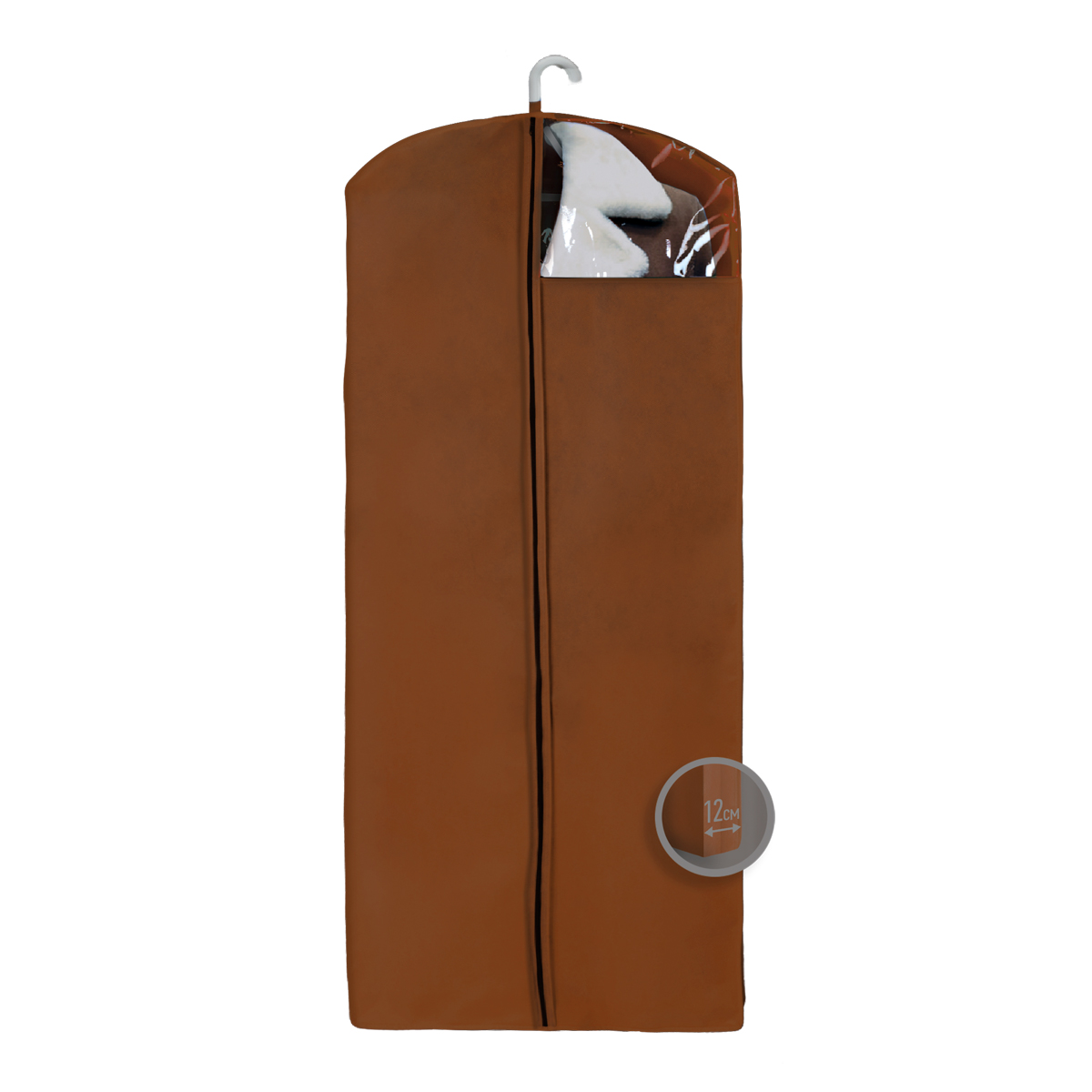 Чехол для верхней одежды Miolla, с окошком, цвет: коричневый, 140 х 60 х 12 смS03301004Чехол для верхней одежды Miolla на застежке-молнии выполнен из высококачественного нетканого материала. Прозрачное полиэтиленовое окошко позволяет видеть содержимое чехла. Подходит для длительного хранения вещей.Чехол обеспечивает вашей одежде надежную защиту от влажности, повреждений и грязи при транспортировке, от запыления при хранении и проникновения моли. Чехол обладает водоотталкивающими свойствами, а также позволяет воздуху свободно поступать внутрь вещей, обеспечивая их кондиционирование. Это особенно важно при хранении кожаных и меховых изделий.Размер чехла: 140 х 60 х 12 см.