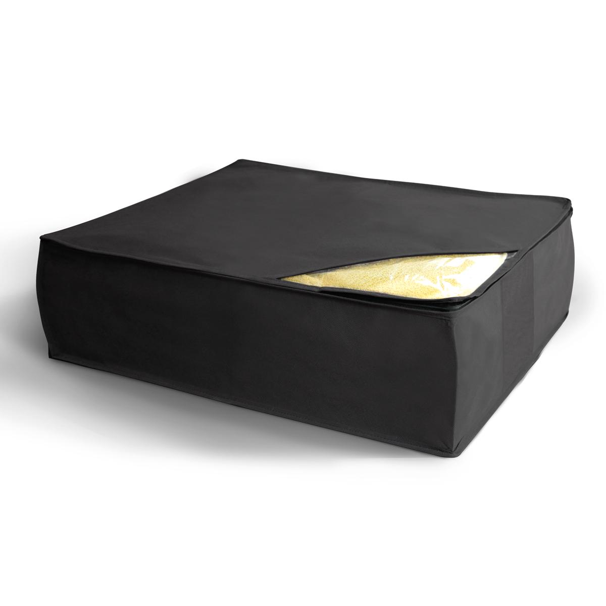 Кофр для хранения Miolla, складной, цвет: черный, 50 х 58 х 19 смCHL-5-3Компактный складной кофр Miolla для хранения одеял, подушек и пледов изготовлен из высококачественногонетканого материала, которыйобеспечивает естественную вентиляцию, позволяя воздуху проникать внутрь,но не пропускает пыль. Изделие закрывается на молнию. Размер кофра (в собранном виде): 50 x 58 x 19 см.