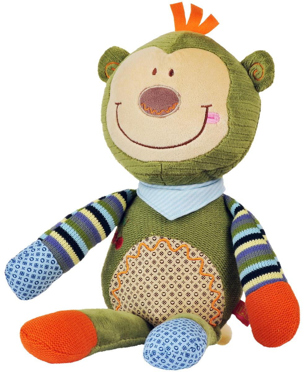 BabyOno Мягкая игрушка-погремушка Обезьяна babyono мягкая кукла лили цвет коралловый