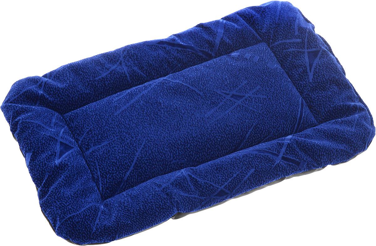 Матрас для животных ЗооМарк, цвет: синий, черный, 32 х 45 см0120710Матрас для животных ЗооМарк изготовлен из флока. Идеален для клеток, переносок, автомобилей. Поддерживает температурный баланс вашего питомца в любое время года. Яркий дизайн позволяет матрасу выглядеть привлекательным даже в период линьки. Наполнитель выполнен из синтепона. Матрас легко складывается для перевозки и хранения.