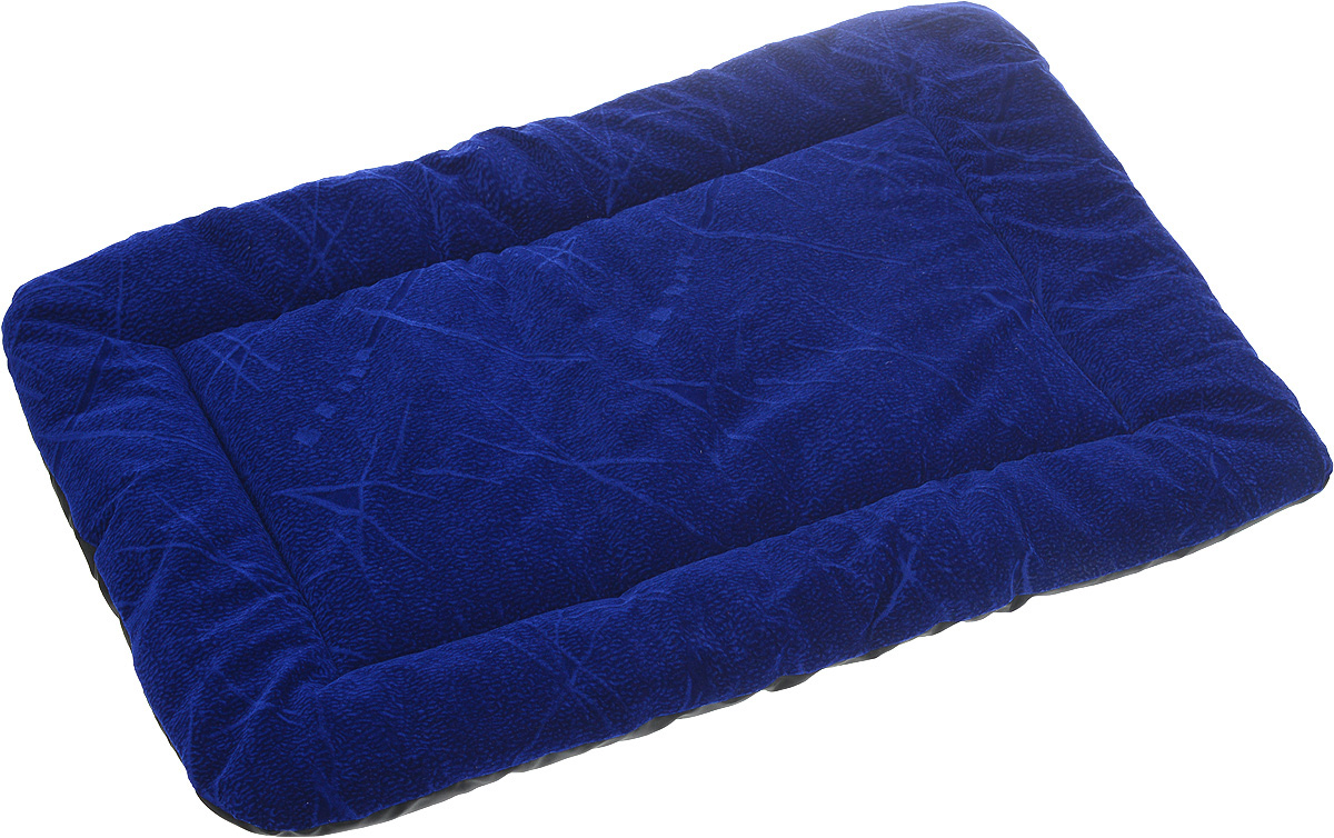 Матрас для животных ЗооМарк, цвет: синий, черный, 50 х 70 см0120710Матрас для животных ЗооМарк изготовлен из флока. Идеален для переносок и автомобилей. Поддерживает температурный баланс вашего питомца в любое время года. Яркий дизайн позволяет матрасу выглядеть привлекательным даже в период линьки. Наполнитель выполнен из синтепона. Матрас легко складывается для перевозки и хранения.