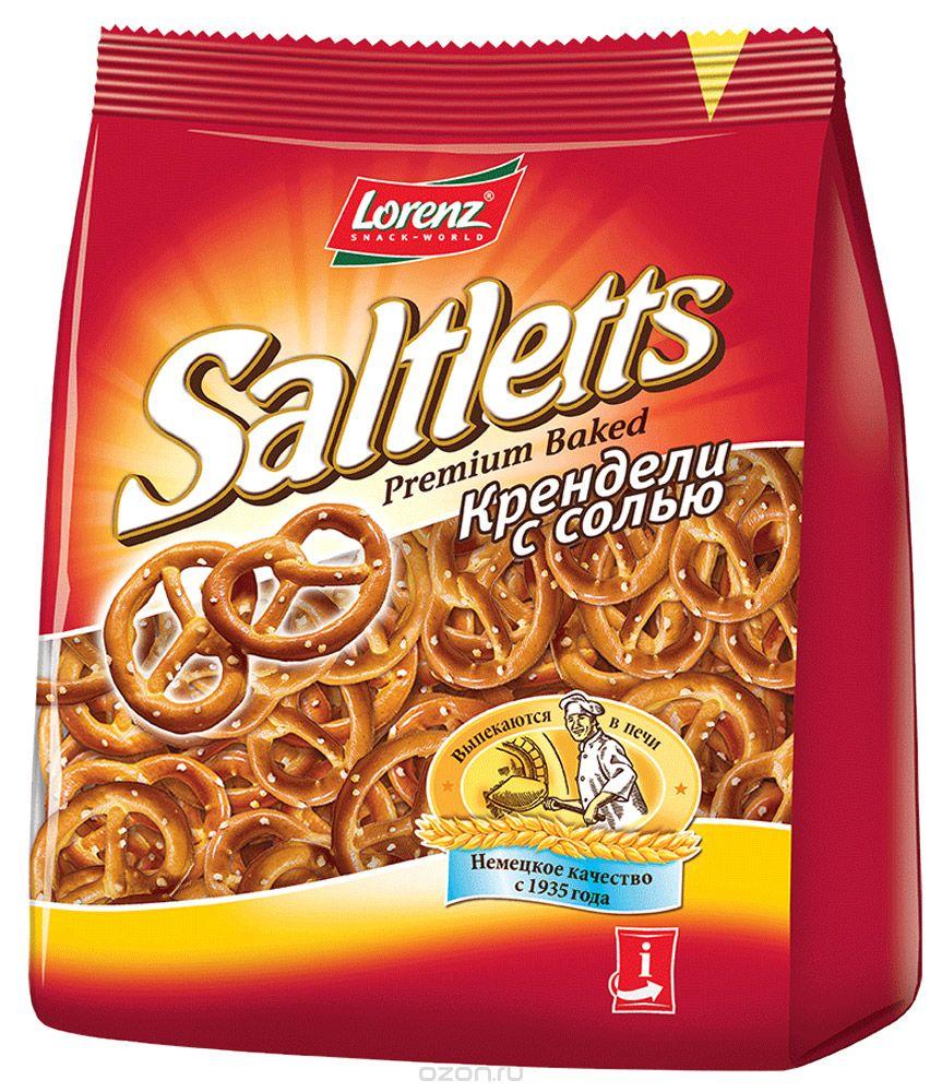 Lorenz Saltletts крендели с солью, 150 г0120710Lorenz Saltletts - это настоящая легенда!Классический вкус и неповторимый хруст Lorenz Saltletts не спутаешь ни с чем другим! Мини-крендели - классическая немецкая закуска. Они выпекаются в печи из лучших ингредиентов и слегка приправлены морской солью.Морская соль, богатая полезными микроэлементами, придает золотисто-коричневым кренделькам Lorenz Saltletts особую пикантность и изысканность.