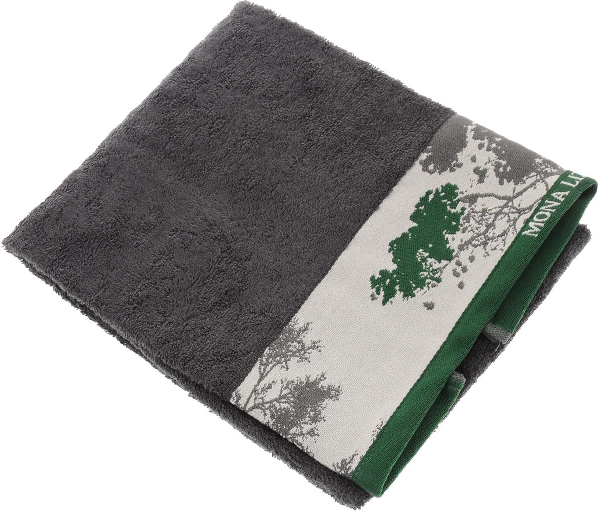 Полотенце Mona Liza Nature, цвет: графит, светло-серый, зеленый, 50 х 90 см68/5/3Мягкое полотенце Nature изготовлено из 30% хлопка и 70% бамбукового волокна. Полотенце Nature с жаккардовым бордюром обладает высокой впитывающей способностью и сочетает в себе элегантную роскошь и практичность. Благодаря высокому качеству изготовления, полотенце будет радовать вас многие годы. Мотивы коллекции Mona Liza Premium bu Serg Look навеяны итальянскими фресками эпохи Ренессанса, периода удивительной гармонии в искусстве. В представленной коллекции для нанесения на ткань рисунка применяется многоцветная печать, метод реактивного крашения, который позволяет создать уникальную цветовую гамму, напоминающую старинные фрески. Этот метод также обеспечивает высокую устойчивость краски при стирке.