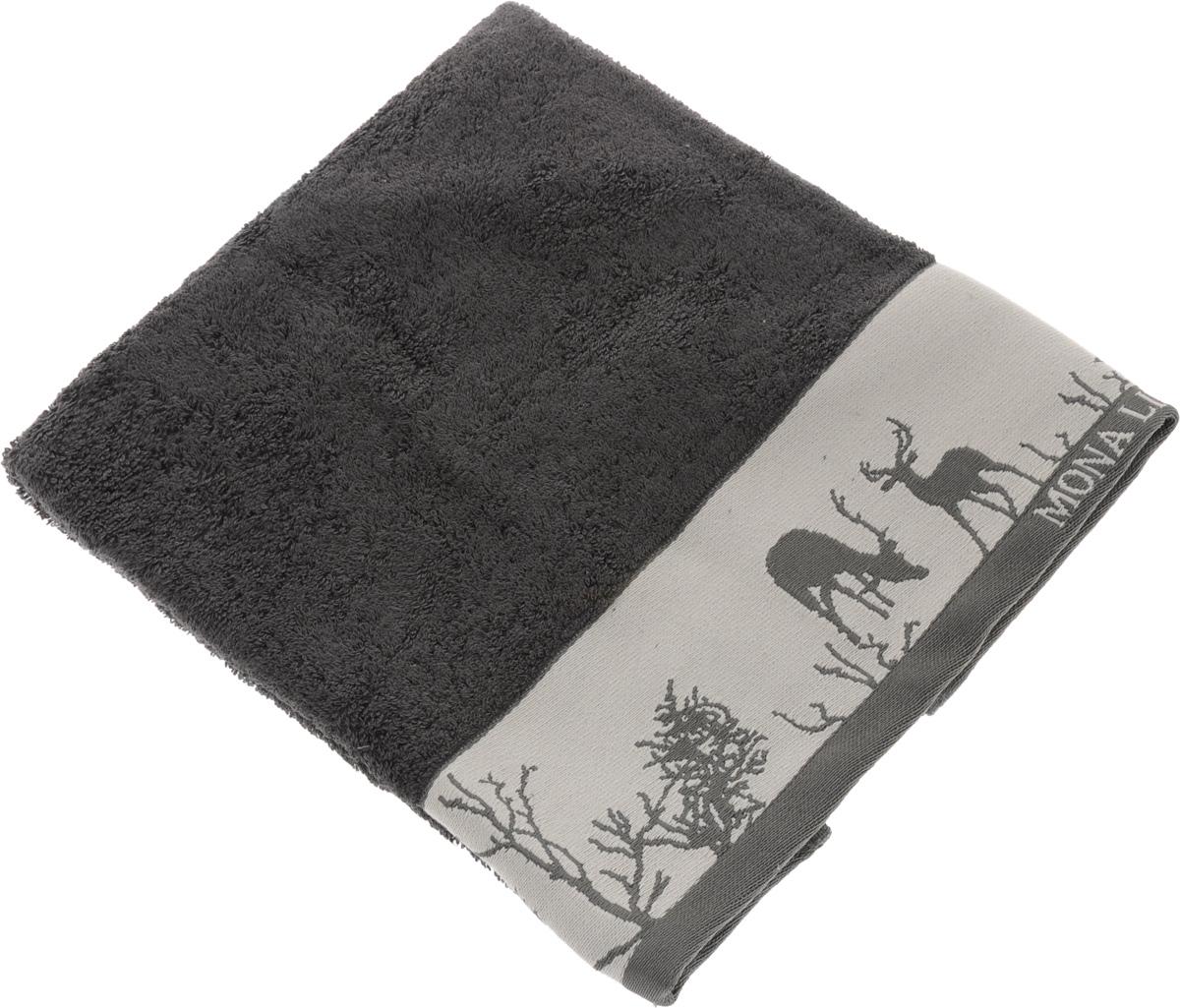 Полотенце Mona Liza Wild, цвет: графит, светло-серый, 50 х 90 см68/5/4Мягкое полотенце Wild изготовлено из 30% хлопка и 70% бамбукового волокна. Полотенце Wild с жаккардовым бордюром обладает высокой впитывающей способностью и сочетает в себе элегантную роскошь и практичность. Благодаря высокому качеству изготовления, полотенце будет радовать вас многие годы. Мотивы коллекции Mona Liza Premium bu Serg Look навеяны итальянскими фресками эпохи Ренессанса, периода удивительной гармонии в искусстве. В представленной коллекции для нанесения на ткань рисунка применяется многоцветная печать, метод реактивного крашения, который позволяет создать уникальную цветовую гамму, напоминающую старинные фрески. Этот метод также обеспечивает высокую устойчивость краски при стирке.