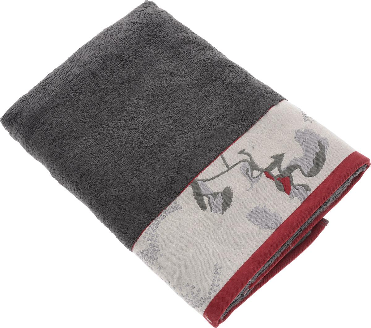 Полотенце Mona Liza Two, цвет: графит, светло-серый, красный, 70 х 140 см68/5/1Мягкое полотенце Two изготовлено из 30% хлопка и 70% бамбукового волокна. Полотенце Two с жаккардовым бордюром обладает высокой впитывающей способностью и сочетает в себе элегантную роскошь и практичность. Благодаря высокому качеству изготовления, полотенце будет радовать вас многие годы. Мотивы коллекции Mona Liza Premium bu Serg Look навеяны итальянскими фресками эпохи Ренессанса, периода удивительной гармонии в искусстве. В представленной коллекции для нанесения на ткань рисунка применяется многоцветная печать, метод реактивного крашения, который позволяет создать уникальную цветовую гамму, напоминающую старинные фрески. Этот метод также обеспечивает высокую устойчивость краски при стирке.
