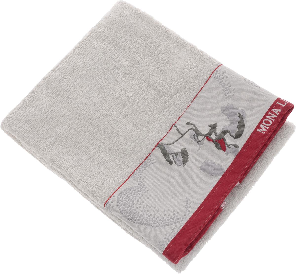 Полотенце Mona Liza Two, цвет: светло-серый, красный, 50 х 90 см68/5/3Мягкое полотенце Two изготовлено из 30% хлопка и 70% бамбукового волокна. Полотенце Two с жаккардовым бордюром обладает высокой впитывающей способностью и сочетает в себе элегантную роскошь и практичность. Благодаря высокому качеству изготовления, полотенце будет радовать вас многие годы. Мотивы коллекции Mona Liza Premium bu Serg Look навеяны итальянскими фресками эпохи Ренессанса, периода удивительной гармонии в искусстве. В представленной коллекции для нанесения на ткань рисунка применяется многоцветная печать, метод реактивного крашения, который позволяет создать уникальную цветовую гамму, напоминающую старинные фрески. Этот метод также обеспечивает высокую устойчивость краски при стирке.