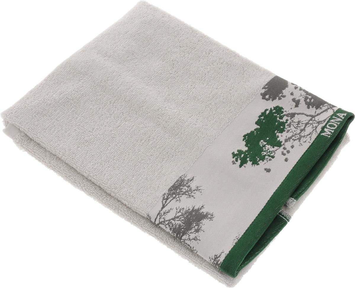 Полотенце Mona Liza Nature, цвет: светло-серый, зеленый, 50 х 90 см391602Мягкое полотенце Nature изготовлено из 30% хлопка и 70% бамбукового волокна. Полотенце Nature с жаккардовым бордюром обладает высокой впитывающей способностью и сочетает в себе элегантную роскошь и практичность. Благодаря высокому качеству изготовления, полотенце будет радовать вас многие годы. Мотивы коллекции Mona Liza Premium bu Serg Look навеяны итальянскими фресками эпохи Ренессанса, периода удивительной гармонии в искусстве. В представленной коллекции для нанесения на ткань рисунка применяется многоцветная печать, метод реактивного крашения, который позволяет создать уникальную цветовую гамму, напоминающую старинные фрески. Этот метод также обеспечивает высокую устойчивость краски при стирке.