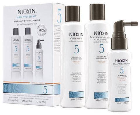 Nioxin System Набор (Система 5) 5 Kit 150 мл+150 мл+40 млSC-FM20104В набор Nioxin System 5 Kit входят:Шампунь Очищение 150 мл - придающий объём очистительКондиционер Увлажнение 150 мл - придающий объём кондиционерМаска Питание 50 мл - придающая объём и питающая волосы маска