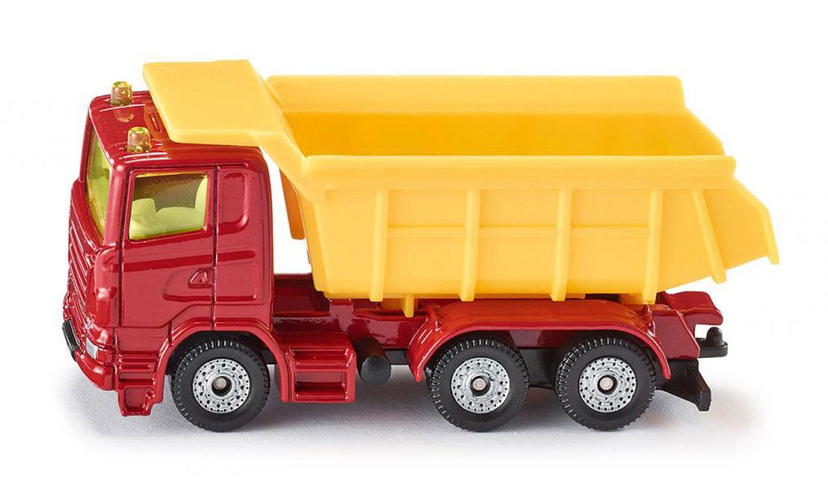 """Грузовик """"Siku"""" выполнен в виде точной копии настоящего автомобиля. Такая модель понравится не только ребенку, но и взрослому коллекционеру, и приятно удивит вас высочайшим качеством исполнения. Модель выполнена из металла с элементами из пластика; прорезиненные колеса крутятся. Отличный подарок для любителей автомобилей!"""
