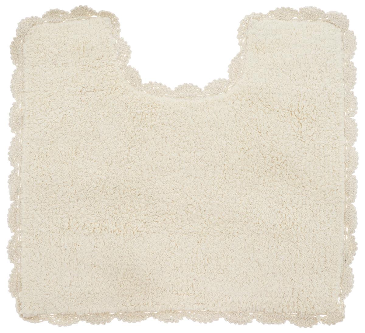 Коврик для туалета Arloni Лейс, цвет: бежевый, 50 х 50 см68/5/1Коврик Arloni Лейс изготовлен из экологически чистого материала - натурального хлопка. Оформлен невероятно красивым кружевом. Коврик мягкий и приятный на ощупь. Отличается высокой износоустойчивостью, хорошо впитывает влагу, не теряет своих свойств после многократных стирок. Коврик Arloni Лейс гармонично впишется в интерьер вашего дома и создаст атмосферу уюта и комфорта. Изделие отличается высоким качеством пошива и стильным дизайном, а материал прекрасно переносит большое количество стирок. Легко стирается в стиральной машине или вручную.