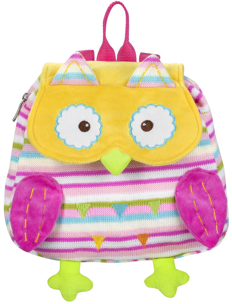 BabyOno Рюкзак детский Совенок цвет розовый желтый730396Детский рюкзак BabyOno Совенок станет замечательным подарком вашемуребенку и доставит ему много удовольствия.Рюкзак выполнен из прочногоматериала и состоит из одного отделения, закрывающегося на застежку-молнию иклапаном на липучке. Лицевая сторона выполнена в виде милого совенка. Рюкзакснабжен регулируемыми по длине плечевые ремнями и ручкой для переноски вруке. В таком рюкзаке ваш ребенок с удовольствием будет носить своивещи или любимые игрушки, а милый жизнерадостный образ подарит малышуотличное настроение.