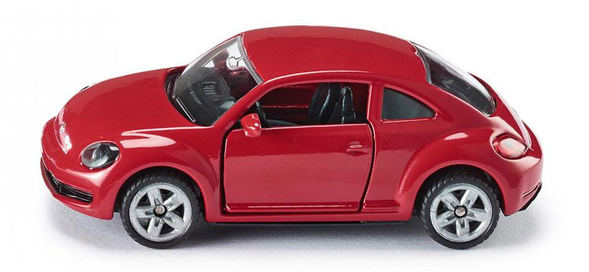"""Модель автомобиля Siku """"Volkswagen The Beetle"""" выполнена в виде уменьшенной копии реального авто. Такая модель понравится не только ребенку, но и взрослому коллекционеру, и приятно удивит вас высочайшим качеством исполнения. Модель выполнена из металла с элементами из пластика; прорезиненные колеса имеют свободный ход. Двери машинки открываются. Отличный подарок для любителей автомобилей!"""