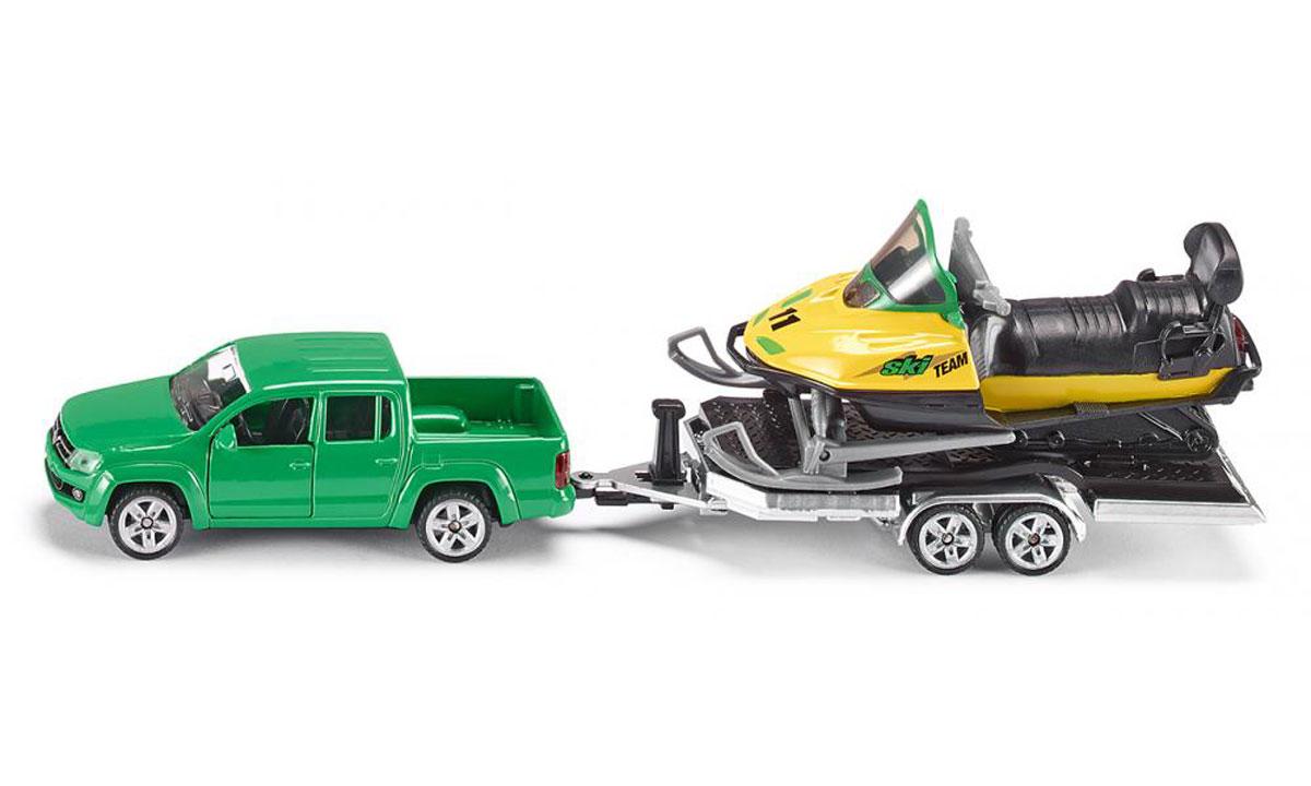 Siku Игровой набор Volkswagen Amarok с прицепом и снегоходом игровые наборы siku игровой набор конюшня siku