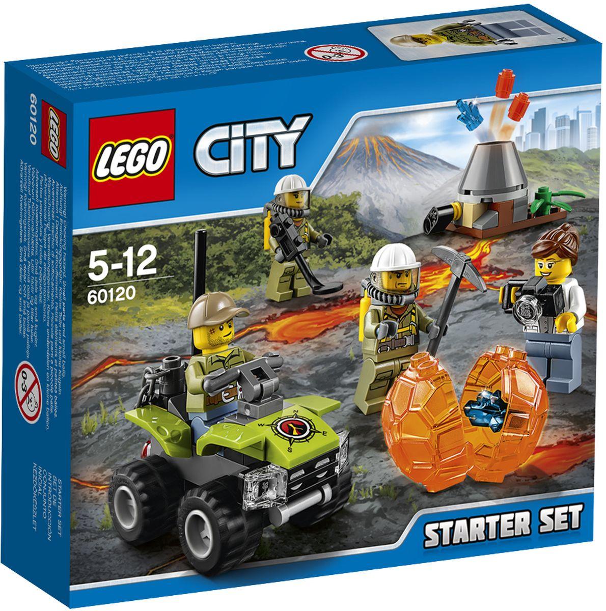 LEGO City Конструктор Исследователи вулканов Стартовый набор 60120 lego city конструктор внедорожник каскадера 60146