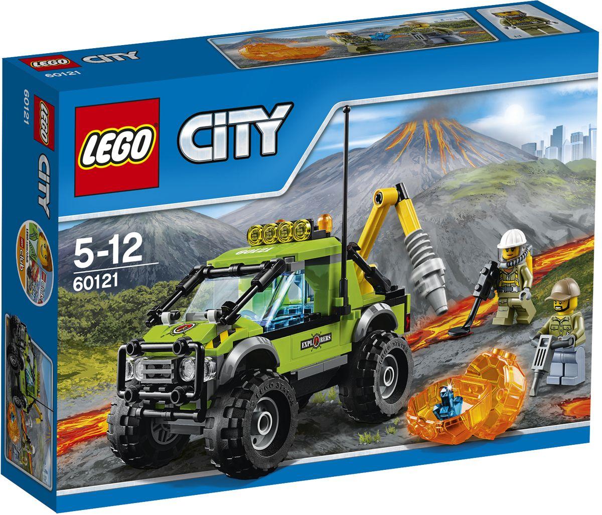 LEGO City Конструктор Грузовик исследователей вулканов 60121 lego city конструктор внедорожник каскадера 60146