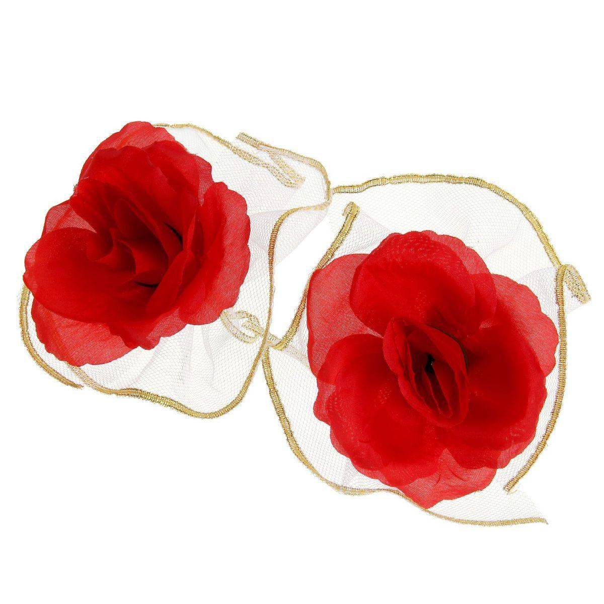 Набор красных роз для украшения свадебного авто Sima-land, 9 x 12 x 3,5 смNLED-454-9W-BKЧудесный набор для декора свадебного автомобиля состоит из двух цветов на лентах в окружении пышной белой оборки. Украсьте с его помощью ручки машины, зеркала или капот. Также это набор можно использовать для оформления зала и свадебных бокалов, что поможет создать неповторимую атмосферу праздника.Дарите радость себе и близким с красивыми аксессуарами.