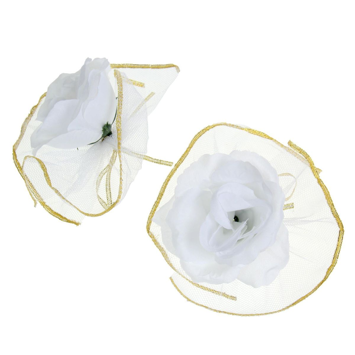 Набор белых роз для украшения свадебного авто Sima-land, 9 x 12 x 3,5 смMB860Чудесный набор для декора свадебного автомобиля состоит из двух цветов на лентах в окружении пышной белой оборки. Украсьте с его помощью ручки машины, зеркала или капот. Также это набор можно использовать для оформления зала и свадебных бокалов, что поможет создать неповторимую атмосферу праздника.Дарите радость себе и близким с красивыми аксессуарами.