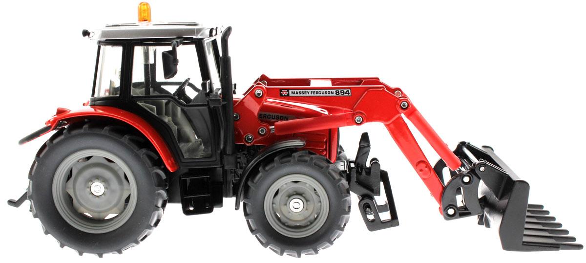Siku Трактор Massey Ferguson 894 с ковшом-вилами tomy трактор massey ferguson 6613