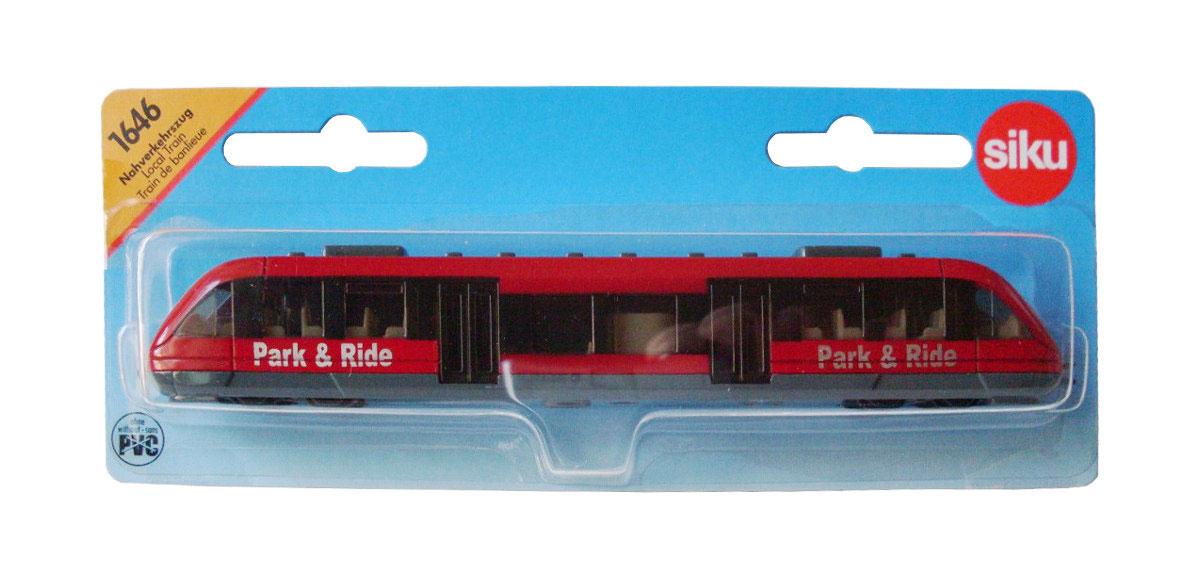 """Пригородный пассажирский поезд """"Siku"""" станет замечательным подарком для вашего ребенка. Игрушка выполнена в виде пригородного поезда и отличается высокой степенью детализации. Корпус модели выполнен из металла, детали изготовлены из ударопрочной пластмассы. Салон также тщательно проработан, внутри имеется водительское сиденье и места для пассажиров. Ваш ребенок часами будет играть с такой игрушкой, придумывая различные истории."""