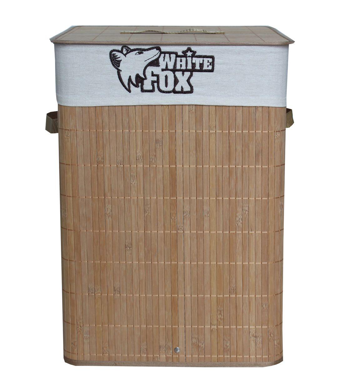 Корзина для белья White Fox Bamboo Standart, квадратная, 35 х 35 х 50 см391602Корзина для белья White Fox Bamboo Standart предназначена для организации и хранения белья. Съемный чехол можно стирать в стиральной машине при деликатной стирке. Удобные ручки помогут перемещать корзину в любое удобное место. Размер корзины в собранном виде: 35 х 35 х 50 см.