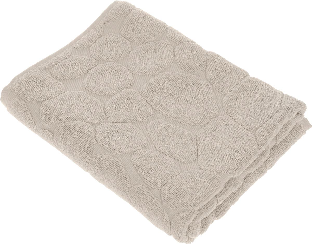 Коврик-полотенце для ванной Issimo Home Lavia, цвет: бежевый, 60 x 90 см1004900000360Коврик-полотенце для ванной Issimo Home Lavia выполнен из высококачественного хлопка. Такое изделие подарит вам массу положительных эмоций и приятных ощущений. Коврик отличается нежностью и мягкостью материала, утонченным дизайном и превосходным качеством. Он прекрасно впитывает влагу, быстро сохнет и не теряет своих свойств после многократных стирок.