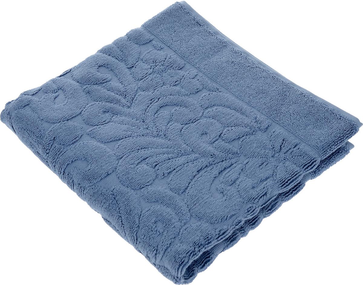 Коврик-полотенце для ванной Issimo Home Valencia, цвет: индиго, 50 x 80 см68/5/3Коврик-полотенце для ванной Issimo Home Valencia выполнен из высококачественного хлопка и бамбука. Такое изделие подарит вам массу положительных эмоций и приятных ощущений. Коврик отличается нежностью и мягкостью материала, утонченным дизайном и превосходным качеством. Он прекрасно впитывает влагу, быстро сохнет и не теряет своих свойств после многократных стирок.