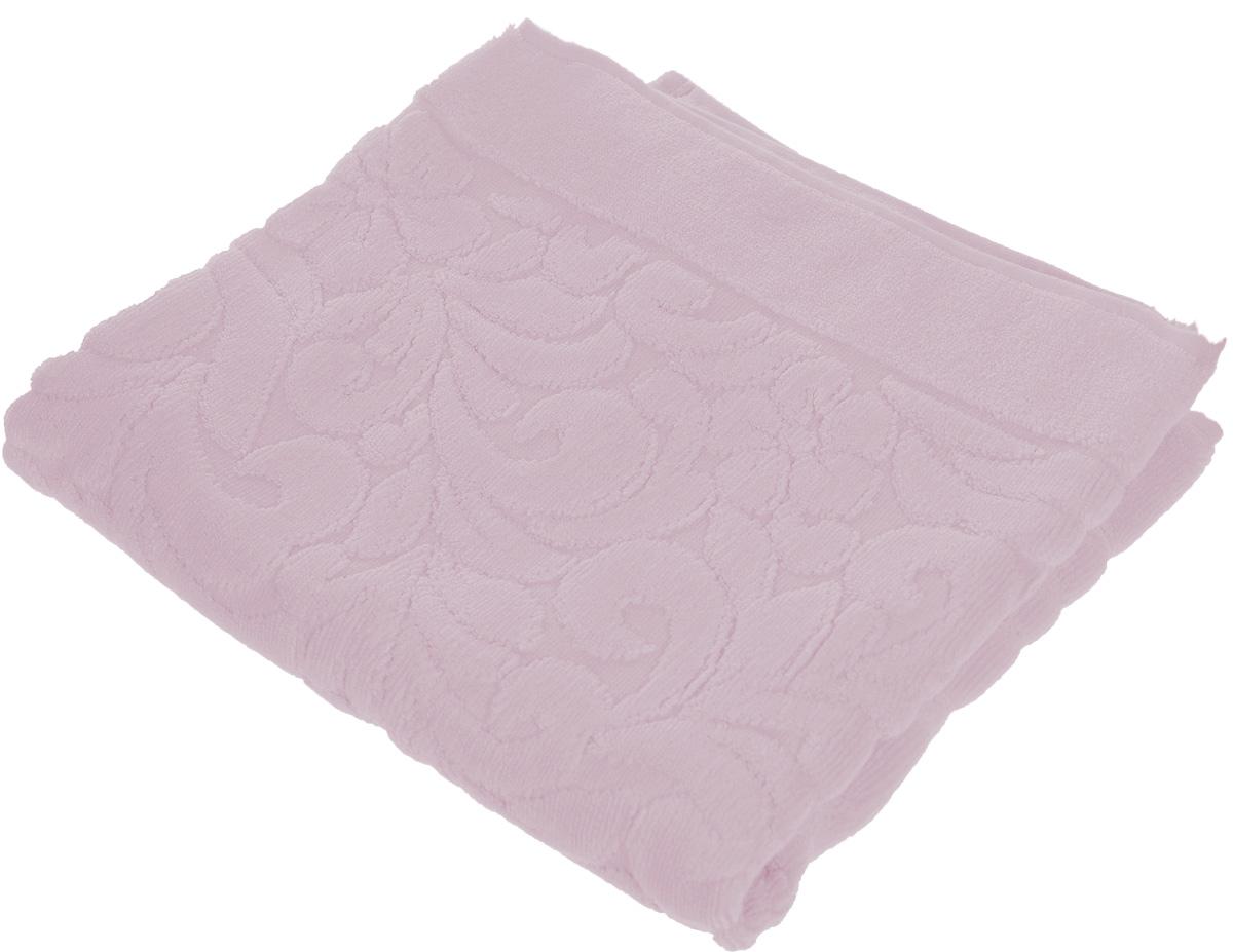Коврик-полотенце для ванной Issimo Home Valencia, цвет: светло-пурпурный, 50 x 80 см531-105Коврик-полотенце для ванной Issimo Home Valencia выполнен из высококачественного хлопка и бамбука. Такое изделие подарит вам массу положительных эмоций и приятных ощущений. Коврик отличается нежностью и мягкостью материала, утонченным дизайном и превосходным качеством. Он прекрасно впитывает влагу, быстро сохнет и не теряет своих свойств после многократных стирок.