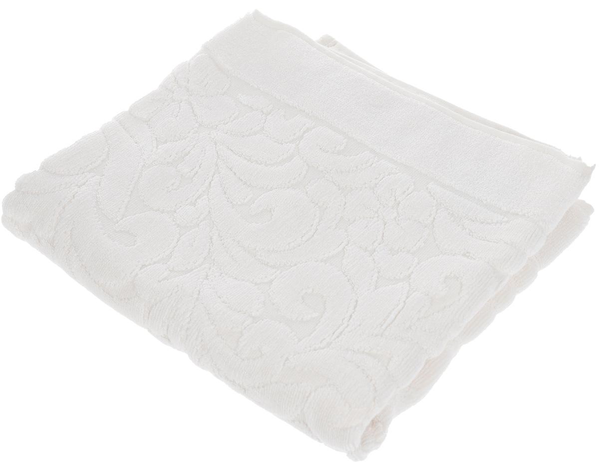 Коврик-полотенце для ванной Issimo Home Valencia, цвет: экрю, 50 x 80 см68/5/2Коврик-полотенце для ванной Issimo Home Valencia выполнен из высококачественного хлопка и бамбука. Такое изделие подарит вам массу положительных эмоций и приятных ощущений. Коврик отличается нежностью и мягкостью материала, утонченным дизайном и превосходным качеством. Он прекрасно впитывает влагу, быстро сохнет и не теряет своих свойств после многократных стирок.