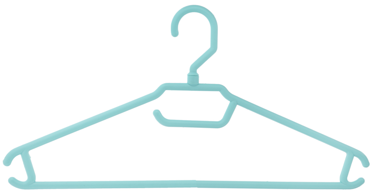 Вешалка для одежды BranQ, цвет: бирюзовый, размер 48-501004900000360Вешалка BranQ изготовлена из полипропилена. Изделие оснащено перекладиной и боковыми крючками. Вешалка - это незаменимая вещь для того, чтобы одежда всегда оставалась в хорошем состоянии и имела опрятный вид.Размер одежды: 48-50.