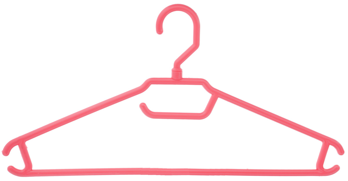Вешалка для одежды BranQ, цвет: коралловый, размер 48-501004900000360Вешалка BranQ изготовлена из полипропилена. Изделие оснащено перекладиной и боковыми крючками. Вешалка - это незаменимая вещь для того, чтобы одежда всегда оставалась в хорошем состоянии и имела опрятный вид.Размер одежды: 48-50.