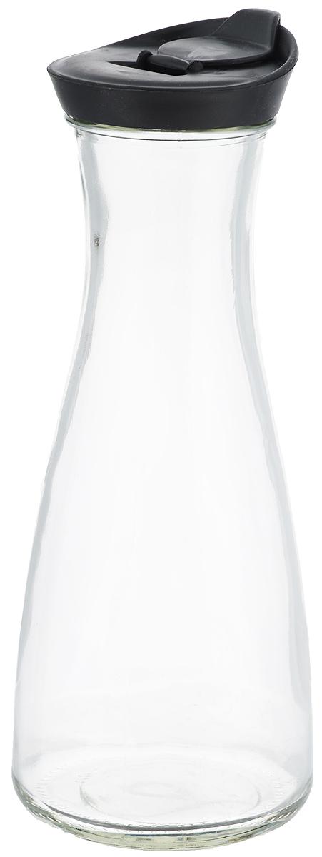 Бутылка для напитков Zeller, цвет: прозрачный, черный, 900 млVT-1520(SR)Бутылка для напитков Zeller, изготовленная из прочного стекла, оснащена пластиковой крышкой с отверстием для жидкости. Это позволяет дозированно наливать содержимое. Изделие предназначено для воды, чая, фруктовых соков и других холодных напитков. Оригинальный дизайн и эргономичная форма превращают бутылку в стильный и функциональный аксессуар. Такая бутылка идеальна для ежедневного использования. Она украсит любой интерьер кухни и пригодится как дома, так и на даче. Диаметр бутылки (по верхнему краю): 6,2 см.Диаметр основания бутылки: 9,5 см.Высота бутылки (с учетом крышки): 26 см.