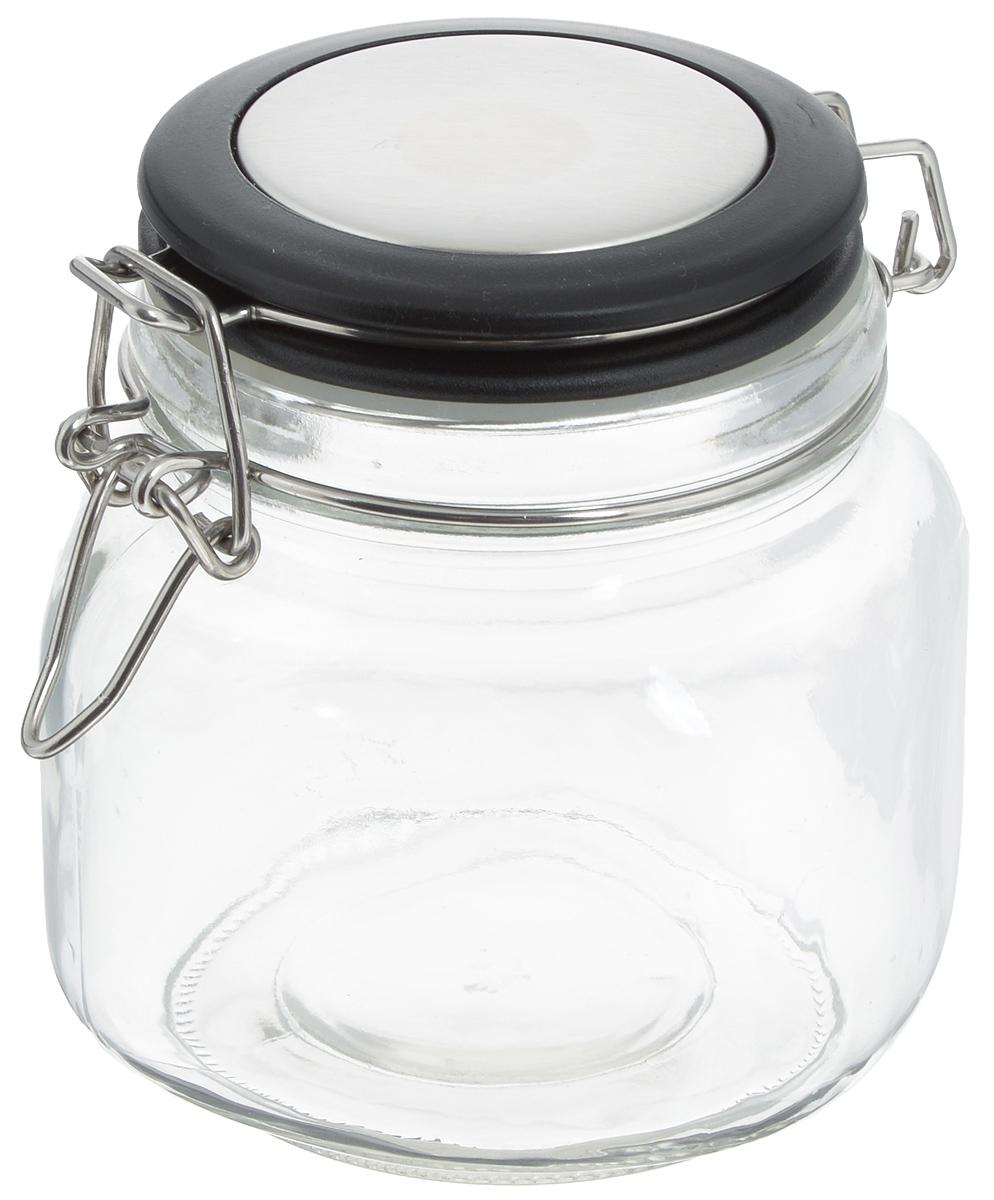 Банка для хранения Zeller, 500 мл. 1995023769Банка Zeller выполнена из прозрачного стекла и оснащена пластиковой крышкой. Металлическая клипса и силиконовый уплотнитель герметично закрывают крышку, что позволяет продуктам дольше оставаться свежими и ароматными. Изделие прекрасно подходит для хранения разнообразных сыпучих продуктов.Такая баночка станет достойным дополнением к вашему кухонному инвентарю. Диаметр по верхнему краю: 9 см.Высота банки (с учетом крышки): 13 см.