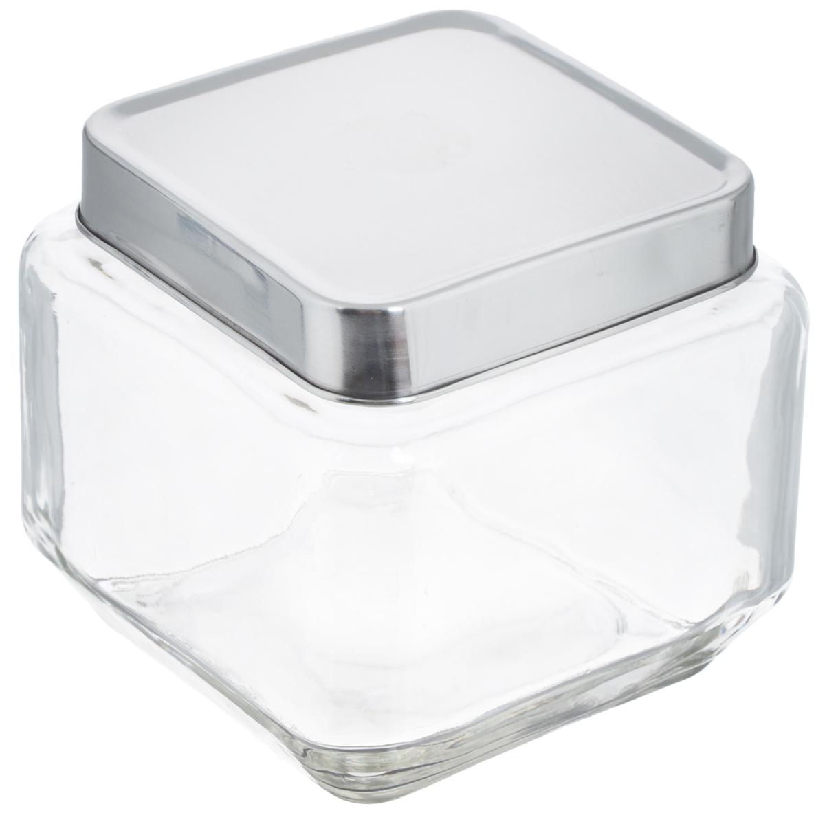 Банка для хранения Zeller, 700 млFA-5126-2 WhiteБанка Zeller, изготовленная из прочного стекла, снабжена металлической крышкой, которая плотно и герметично закрывается, дольше сохраняя аромат и свежесть содержимого. Изделие подходит для хранения сыпучих продуктов: круп, чая, специй, орехов, сахара и многого другого. Функциональная и вместительная, такая банка станет незаменимым аксессуаром на любой кухне. Размер банки (с учетом крышки): 10,5 х 10,5 х 10,5 см.