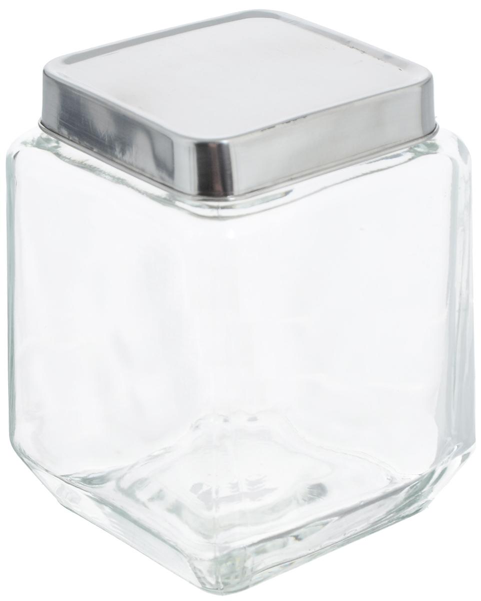 Банка для хранения Zeller, 1,1 л. 19907VT-1520(SR)Банка Zeller, изготовленная из прочного стекла, снабжена металлической крышкой, которая плотно и герметично закрывается, дольше сохраняя аромат и свежесть содержимого. Изделие подходит для хранения сыпучих продуктов: круп, чая, специй, орехов, сахара и многого другого. Функциональная и вместительная, такая банка станет незаменимым аксессуаром на любой кухне. Размер банки (с учетом крышки): 10,5 х 10,5 х 14 см.