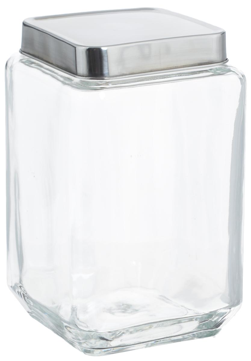 Банка для хранения Zeller, 1,5 л. 19908FD 992Банка Zeller, изготовленная из прочного стекла, снабжена металлической крышкой, которая плотно и герметично закрывается, дольше сохраняя аромат и свежесть содержимого. Изделие подходит для хранения сыпучих продуктов: круп, чая, специй, орехов, сахара и многого другого. Функциональная и вместительная, такая банка станет незаменимым аксессуаром на любой кухне. Размер банки: 10,5 х 10,5 х 18 см.