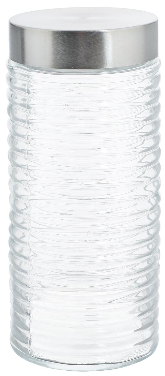 Банка для хранения Zeller, 1,4 лАксион Т-33Банка Zeller, изготовленная из прочного стекла, снабжена металлической крышкой, которая плотно закрывается, дольше сохраняя аромат и свежесть содержимого. Изделие подходит для хранения сыпучих продуктов: круп, чая, специй, орехов, сахара и многого другого. Функциональная и вместительная, такая банка станет незаменимым аксессуаром на любой кухне. Диаметр банки (по верхнему краю): 8,7 см.Высота банки (без учета крышки): 22,5 см.