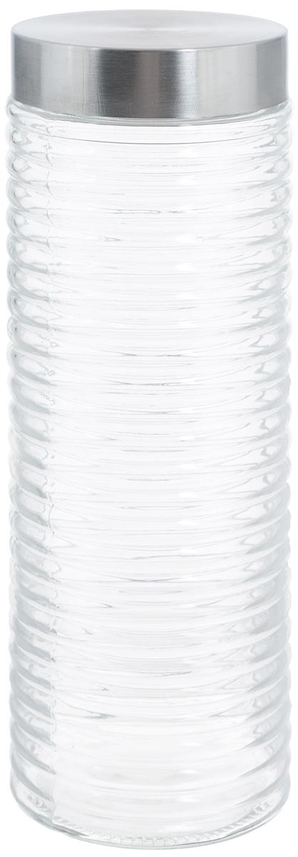 Банка для продуктов Zeller, 2 лVT-1520(SR)Банка Zeller, изготовленная из прочного стекла, снабжена металлической крышкой, которая плотно закрывается, дольше сохраняя аромат и свежесть содержимого. Изделие подходит для хранения сыпучих продуктов: круп, чая, специй, орехов, сахара и многого другого. Функциональная и вместительная, такая банка станет незаменимым аксессуаром на любой кухне. Диаметр банки (по верхнему краю): 8,7 см.Высота банки (без учета крышки): 29 см.