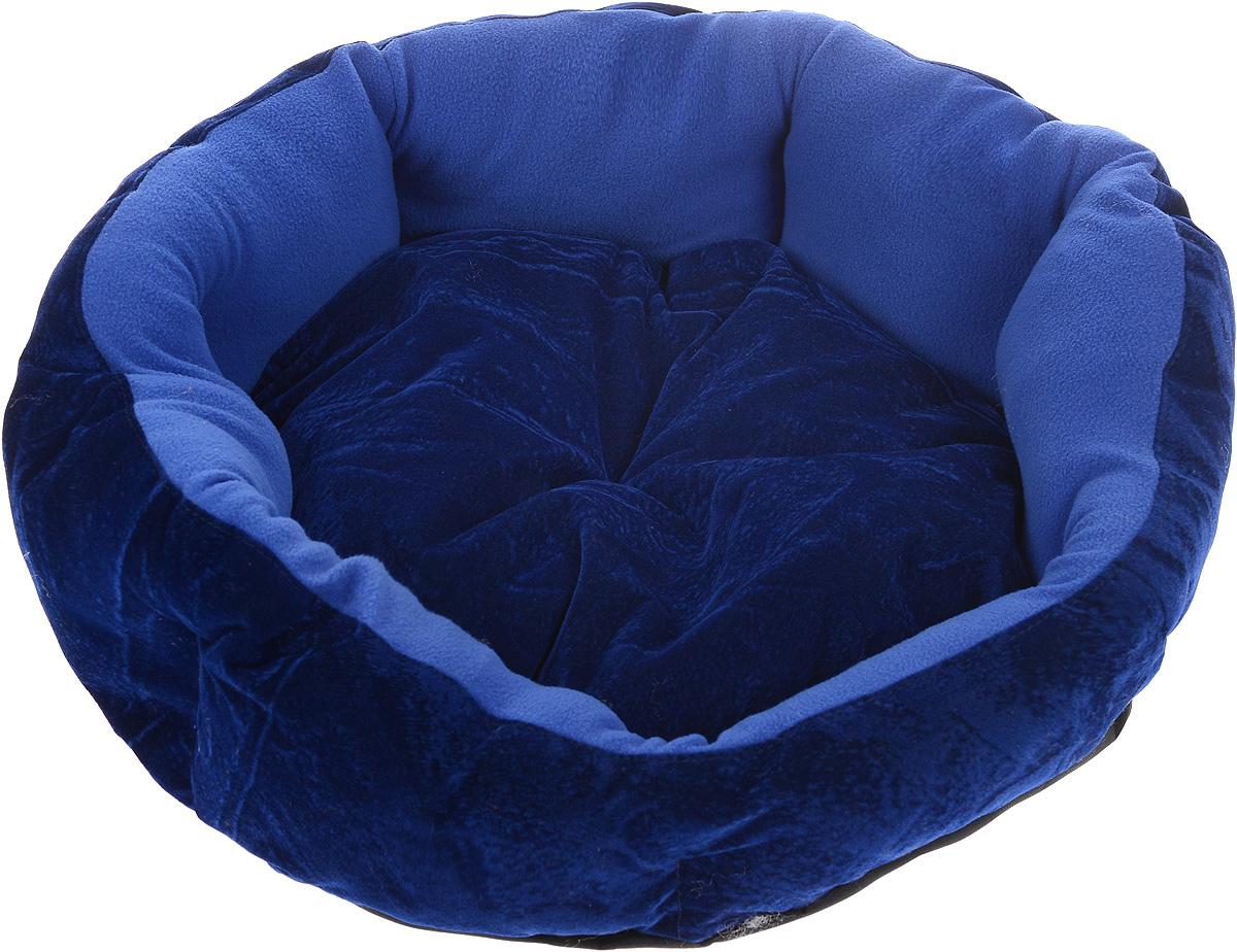 Лежак для животных ЗооМарк Цветочек, цвет: синий, диаметр 46 см22187/5Мягкий лежак для собак ЗооМарк Цветочек обязательно понравится вашему питомцу. Он выполнен из высококачественных материалов, а наполнитель из мягкого синтепуха. Такой материал не теряет своей формы долгое время. Высокие борта обеспечат вашему любимцу уют. Лежак оснащен съемной подстилкой. Лежак ЗооМарк Цветочек станет излюбленным местом вашего питомца, подарит ему спокойный и комфортный сон, а также убережет вашу мебель от многочисленной шерсти. Диаметр: 46 см.Высота: 16 см.