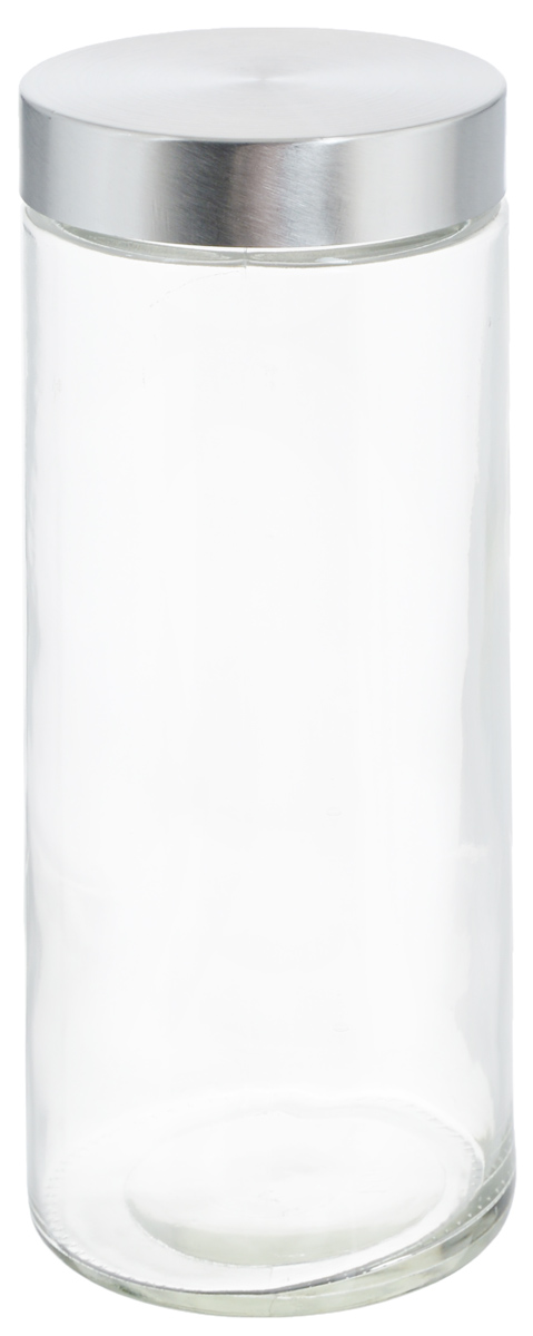 Банка для хранения Zeller, 2,1 л. 19919W07140020Банка Zeller, изготовленная из прочного стекла, снабжена металлической крышкой, которая плотно и герметично закрывается, дольше сохраняя аромат и свежесть содержимого. Изделие подходит для хранения сыпучих продуктов: круп, чая, специй, орехов, сахара и многого другого. Функциональная и вместительная, такая банка станет незаменимым аксессуаром на любой кухне. Диаметр банки (по верхнему краю): 10 см.Высота банки (без учета крышки): 27 см.