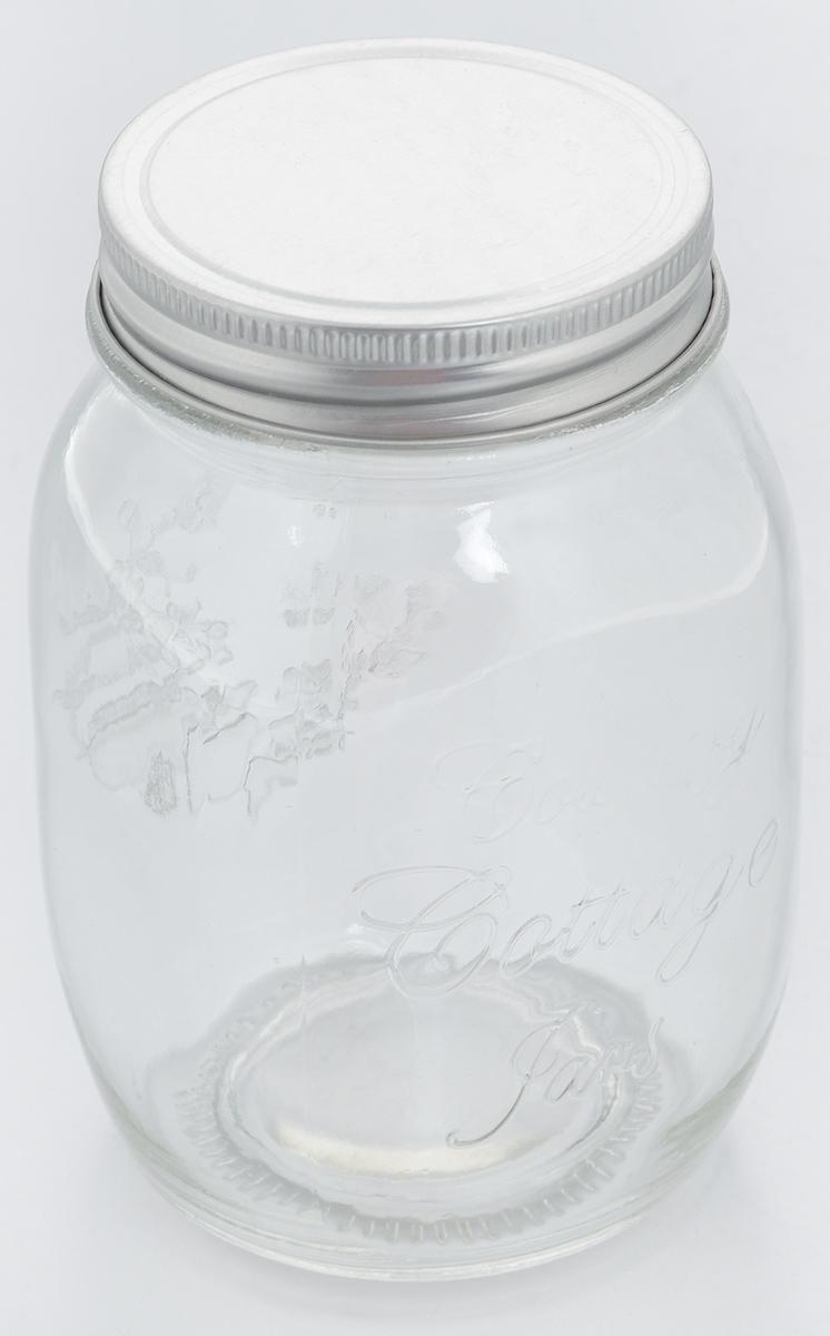 Банка для хранения Zeller, 600 млFA-5125 WhiteБанка Zeller, изготовленная из прочного стекла, снабжена металлической крышкой, которая плотно и герметично закрывается, дольше сохраняя аромат и свежесть содержимого. Банка подходит для хранения сыпучих продуктов: круп, чая, специй, орехов, сахара, соли и многого другого. Функциональная и вместительная, такая банка станет незаменимым аксессуаром на любой кухне. Диаметр банки (по верхнему краю): 6,5 см.Высота банки (без учета крышки): 13,6 см.