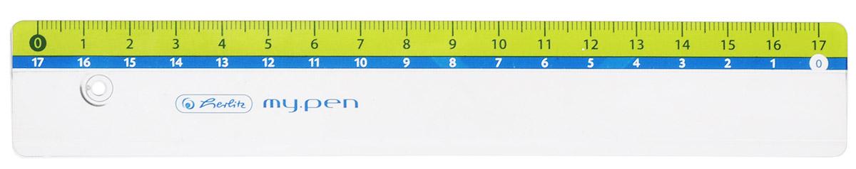 Herlitz Линейка My Pen цвет желтый 17 см582425Линейка Herlitz My Pen с делениями на 17 см выполнена из неломающегося пластика, обладает четкой миллиметровой шкалой делений. Линейка удобна для измерения длины и черчения. Подходит для правшей и левшей.