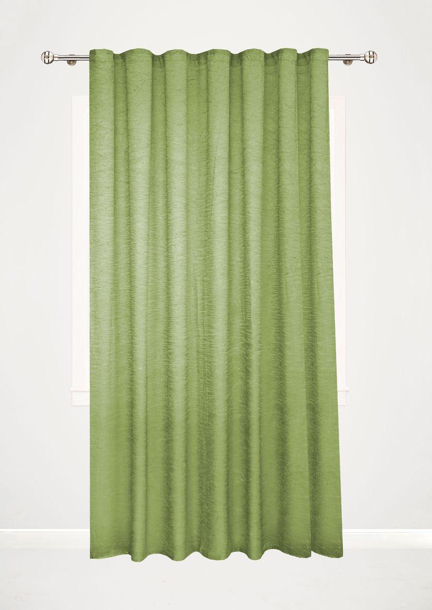 Штора Garden, на ленте, цвет: зеленый, высота 260 см. С W303 V73056С W303 V73056Garden – это универсальная и интересная серия домашних штор для яркого и стильного оформления окон и создания особенной уютной атмосферы. Эта штора великолепно смотрится как одна, так и в паре, в комбинации с нежной тюлевой занавеской, собранная на подхваты и свободно ниспадающая естественными складками. Такая штора, изготовленная полностью из прочного и очень практичного полиэстерового полотна, долговечна и не боится стирок, не сминается, не теряет своего блеска и яркости красок.