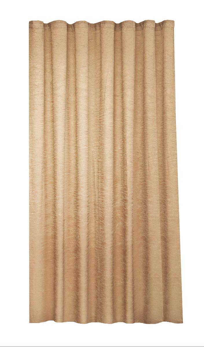 Штора Garden, на ленте, высота 260 см, цвет: золотисто-коричневый. С W303 V78017С W303 V78017Garden – это универсальная и интересная серия домашних портьер для яркого и стильного оформления окон и создания особенной уютной атмосферы. Эта портьера великолепно смотрится как одна, так и в паре, в комбинации с нежной тюлевой занавеской, собранная на подхваты и свободно ниспадающая естественными складками. Такая портьера, изготовленная полностью из прочного и очень практичного полиэстерового полотна, долговечна и не боится стирок, не сминается, не теряет своего блеска и яркости красок.