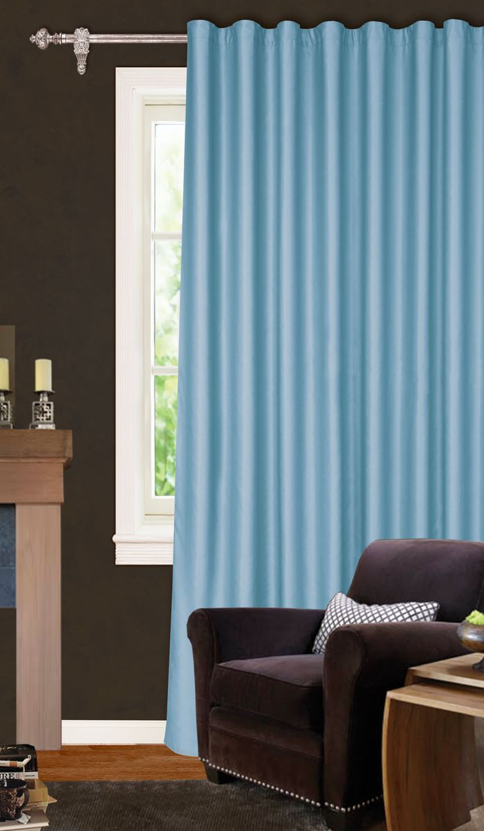 Штора Garden, на ленте, цвет: голубой, высота 260 см. С W1223 V79000SVC-300Garden – это универсальная и интересная серия домашних портьер для яркого и стильного оформления окон и создания особенной уютной атмосферы. Эта штора великолепно смотрится как одна, так и в паре, в комбинации с нежной тюлевой занавеской, собранная на подхваты и свободно ниспадающая естественными складками. Такая штора, изготовленная полностью из прочного и очень практичного полиэстерового полотна, долговечна и не боится стирок, не сминается, не теряет своего блеска и яркости красок.